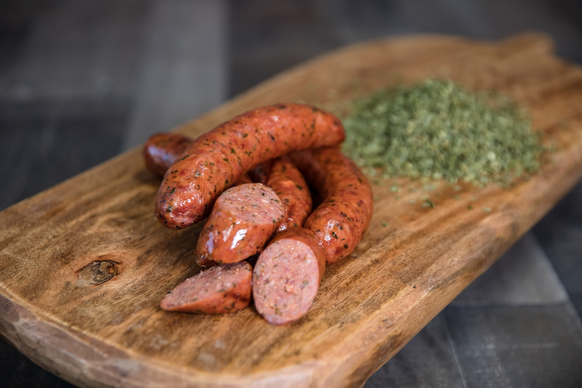 Slovacek Garlic Green Onion Sausage